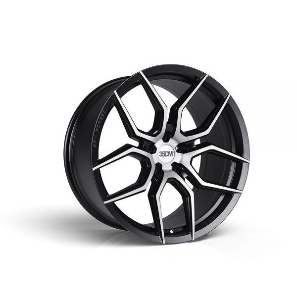 3SDM Brushed Satin Black 0.50SF Flow Formed Wheel 20x9 5x120 +35mm