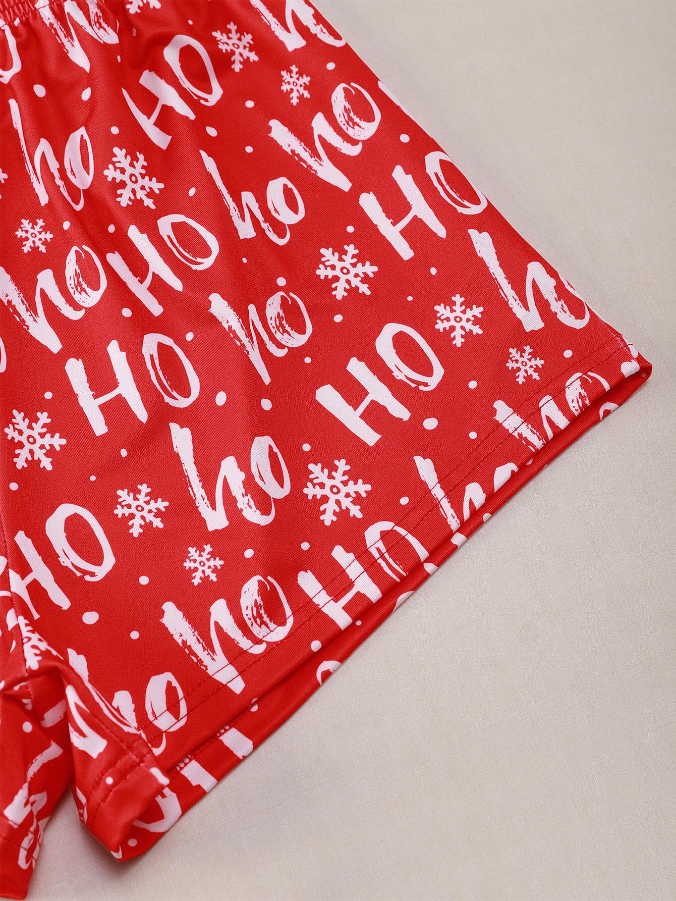 LW Lovely Christmas Print Red Sleepwear