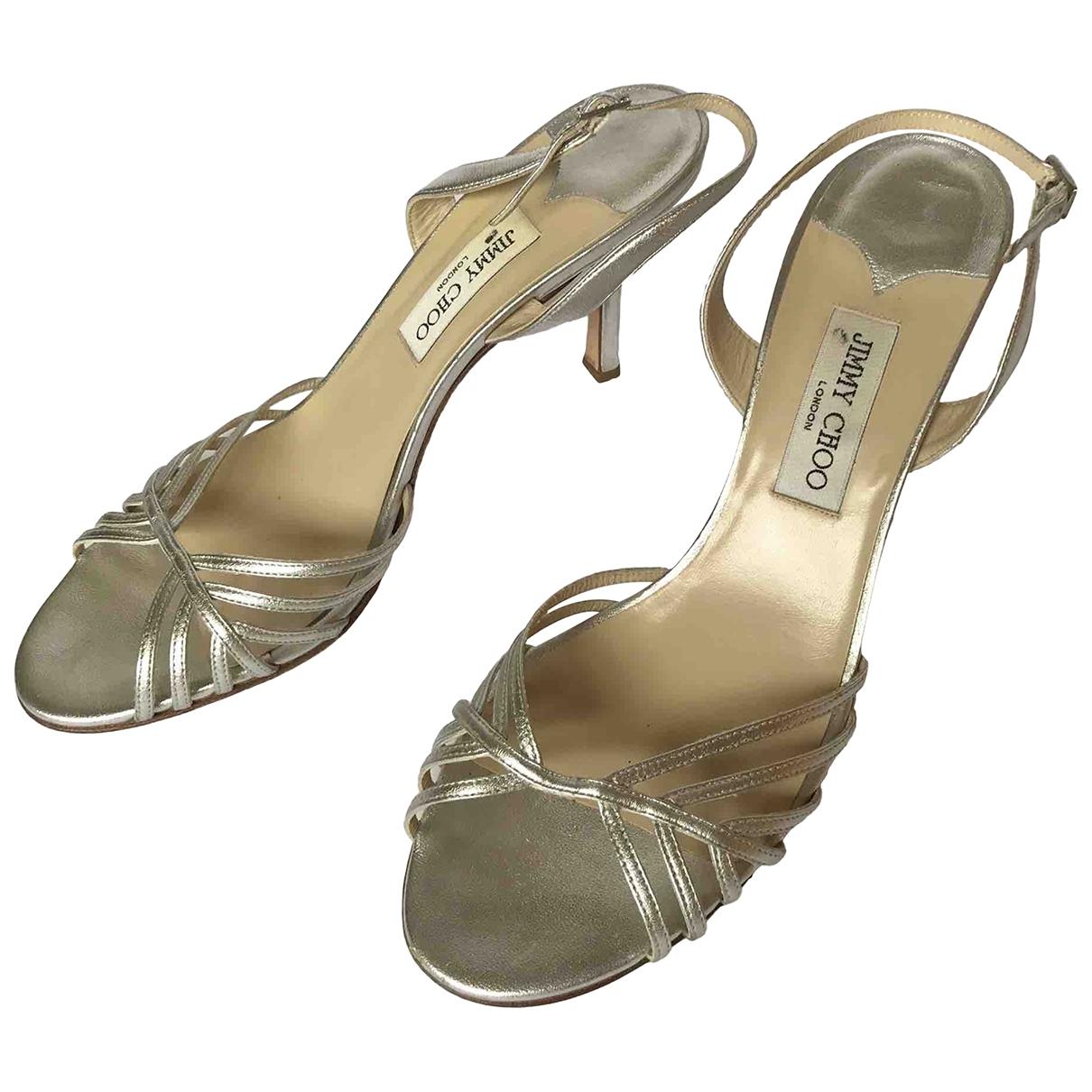 Jimmy Choo \N Sandalen in  Silber Leder