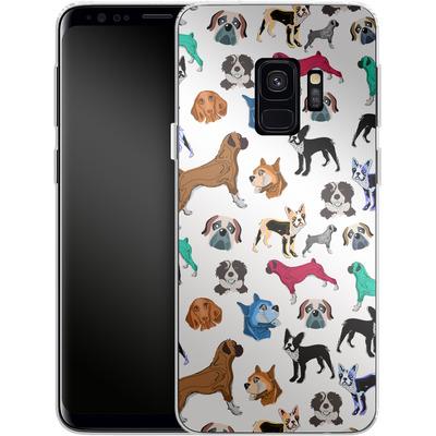 Samsung Galaxy S9 Silikon Handyhuelle - Puppy Love von Mukta Lata Barua