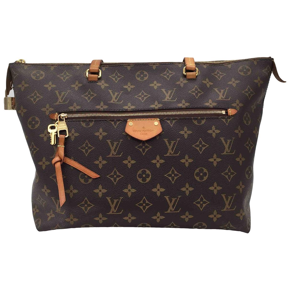 Louis Vuitton Iena Handtasche in  Braun Leinen