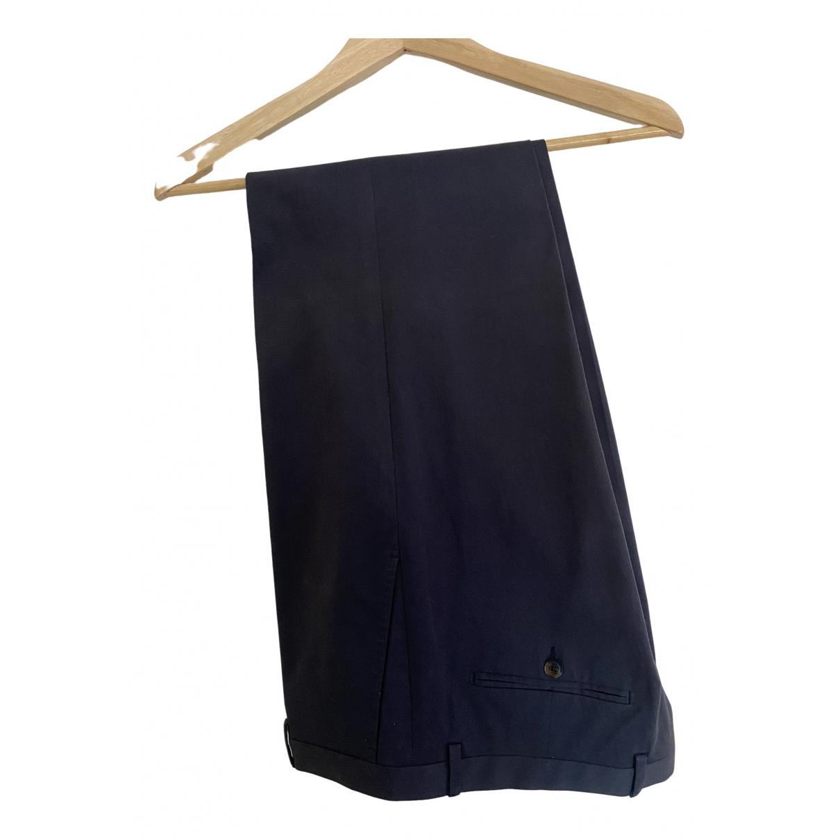 Pantalones en Algodon Azul Gucci