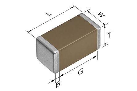 TDK 0402 (1005M) 1nF Multilayer Ceramic Capacitor MLCC 100V dc ±10% SMD CGA2B2X8R2A102K050BA (10000)