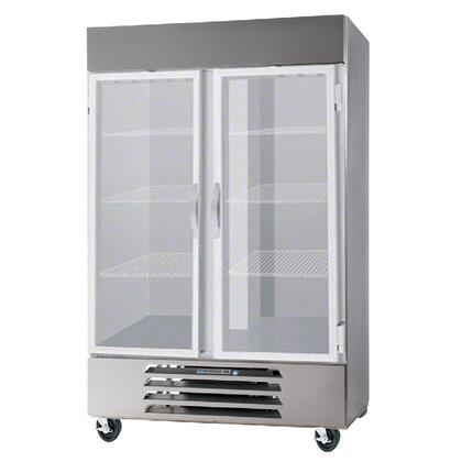 HBF44-1-G 47 Horizon Series Two Section Glass Door Reach-In Freezer  44 cu.ft. Capacity  Stainless Steel Exterior and Interior  with Bottom Mounted