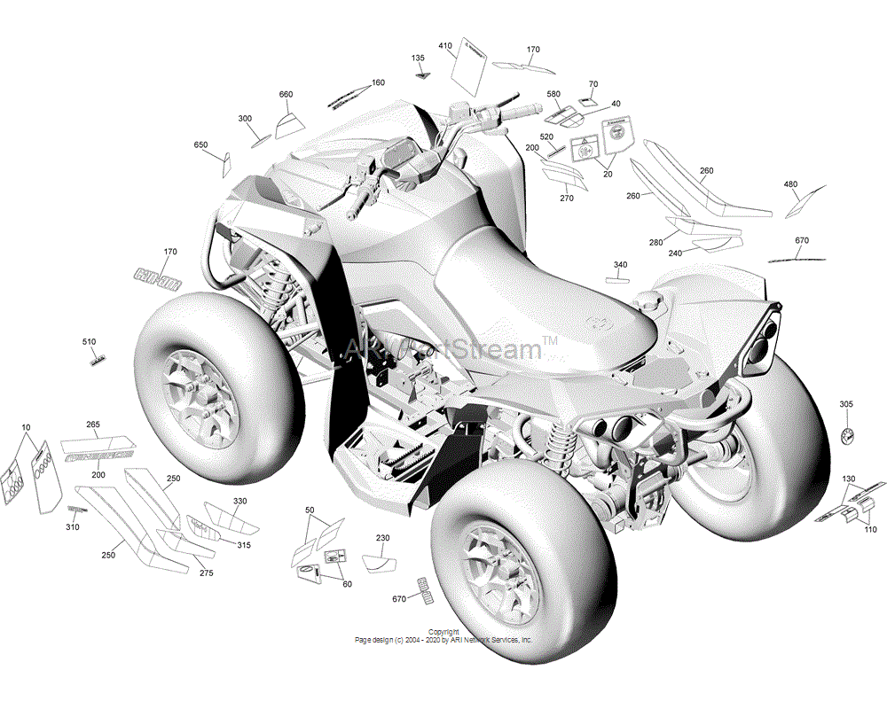 Can-AM OEM LH Sponsor Decal | Engine 1000R EFI Package XMR Sunburst Yellow Models