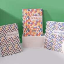 1 Pack zufaelliges Notizbuch mit geometrischem Muster
