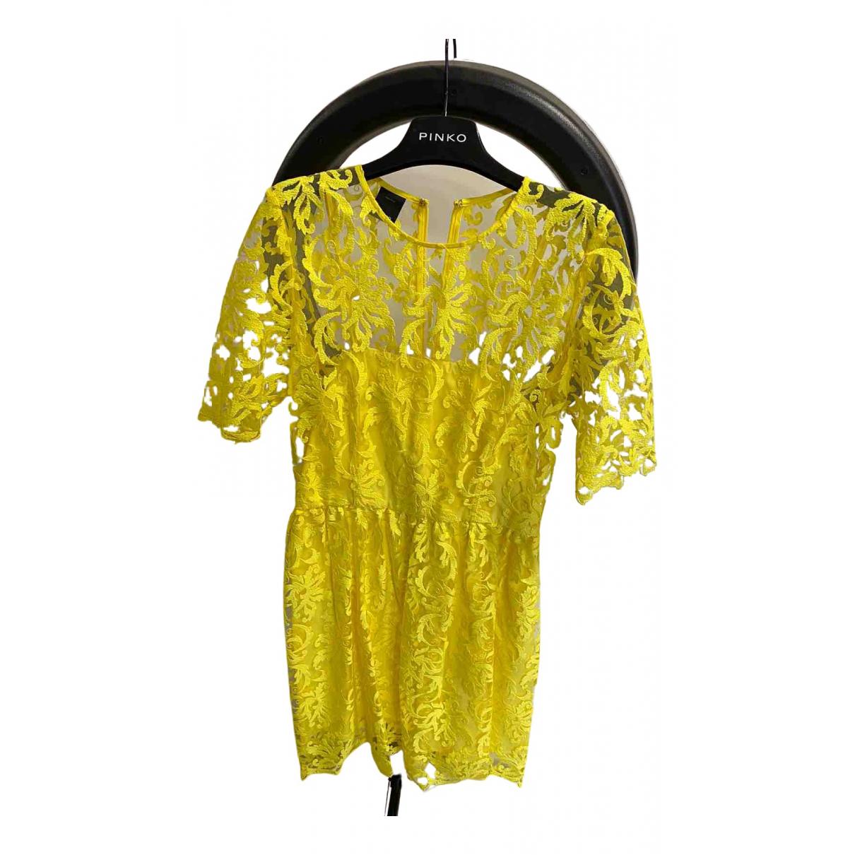 Pinko \N Kleid in  Gelb Spitze