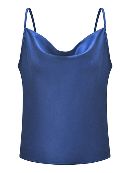 Milanoo Women Sexy Camis Sleeveless Straps Solid Color Summer Top