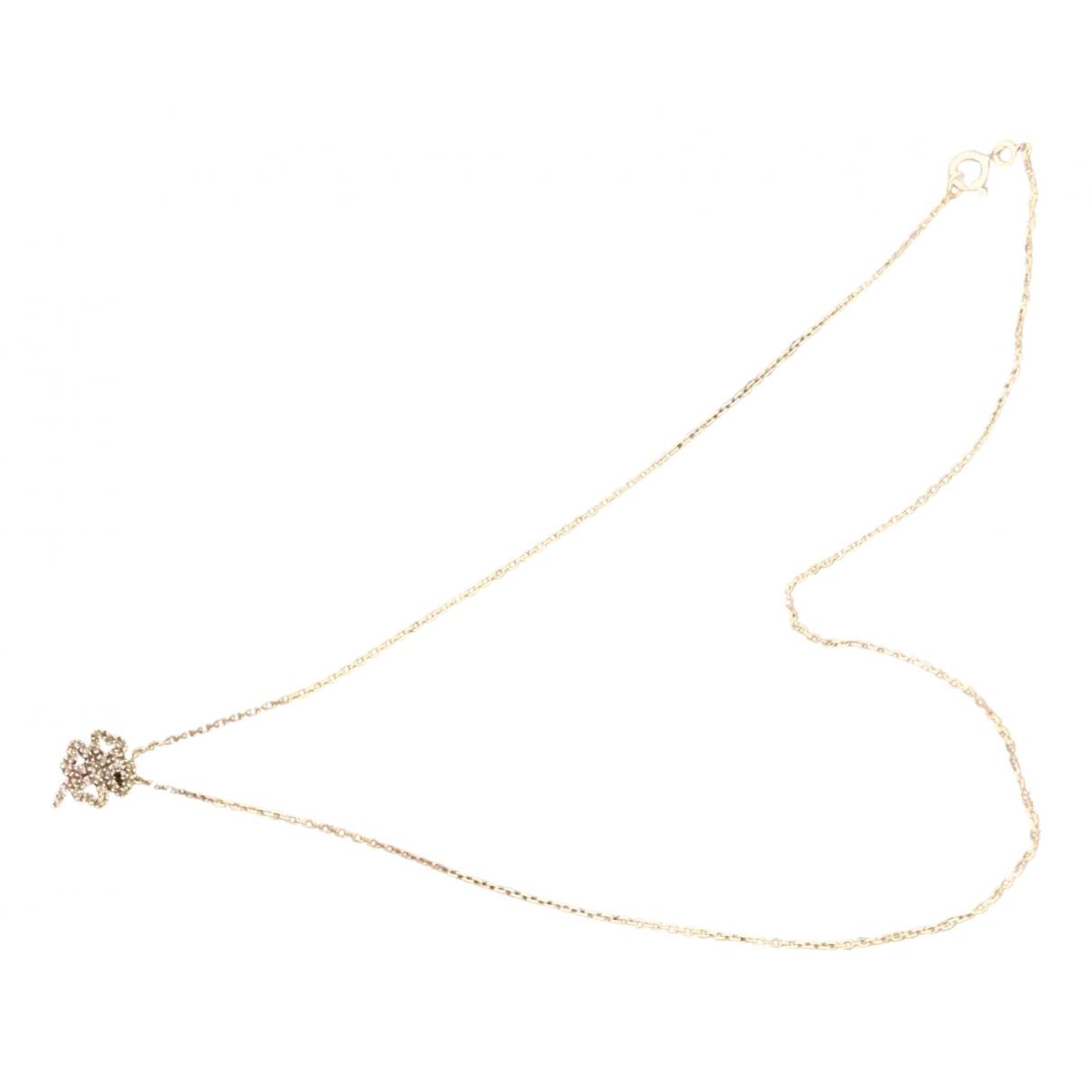 - Collier   pour femme en or blanc - gris