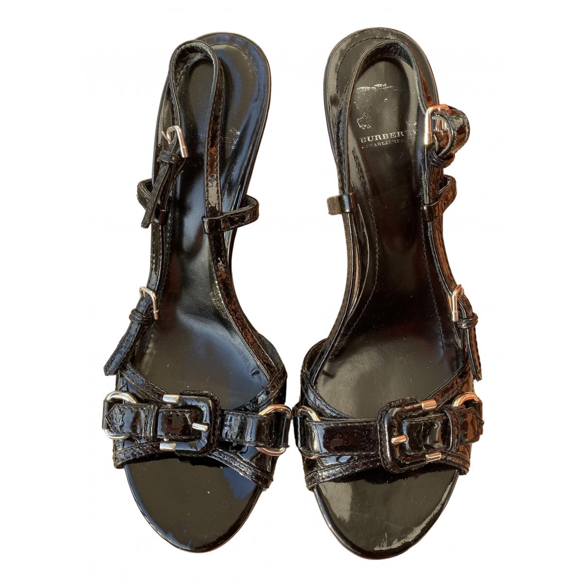 Sandalias de Charol Burberry