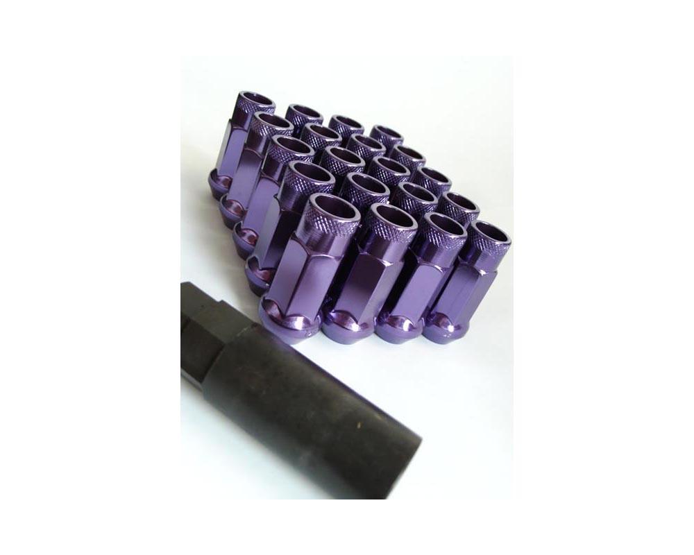 Muteki 32906L SR48 Open End Racing Lug Nuts M12x1.50 Purple