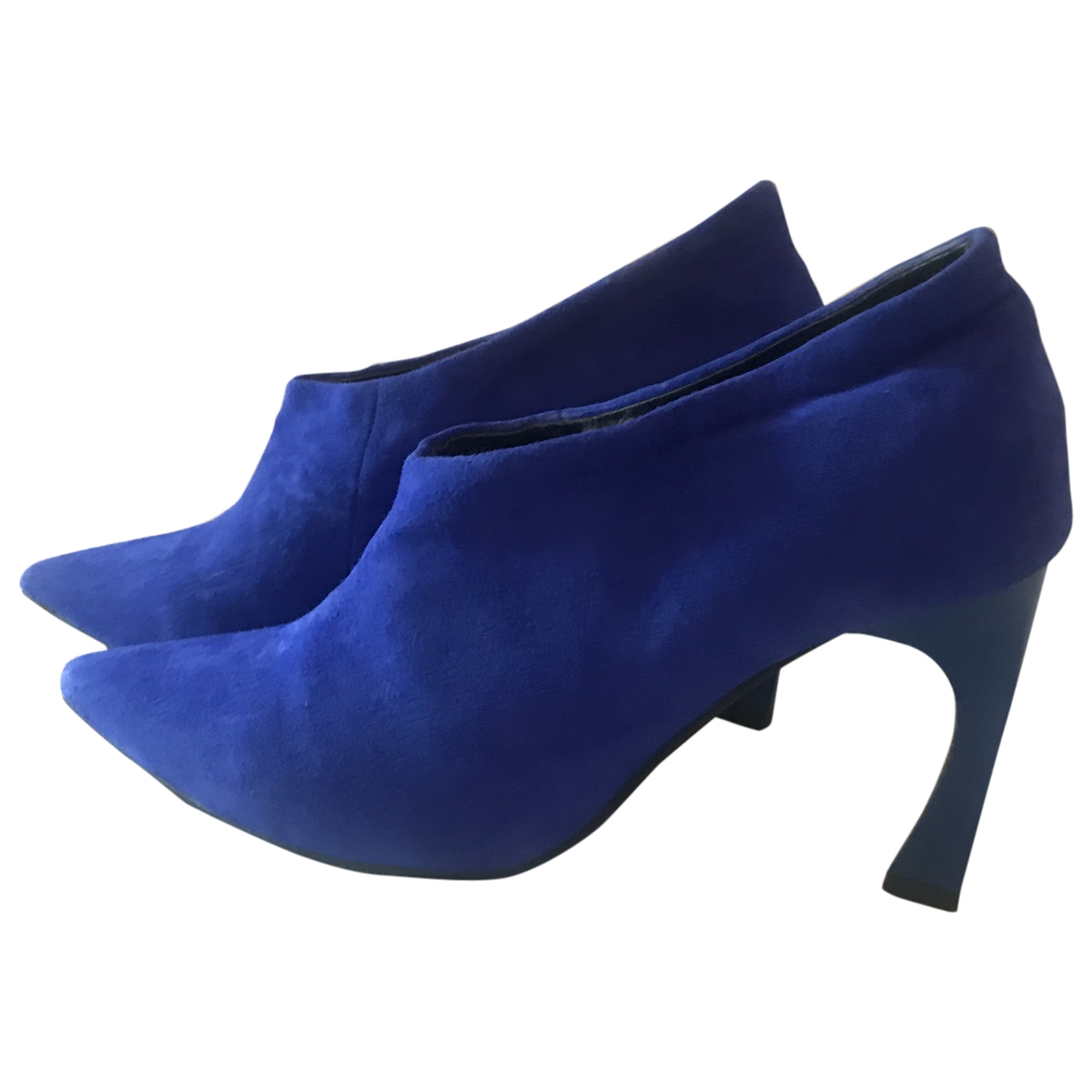 Dior \N Blue Suede Ankle boots for Women 40 EU