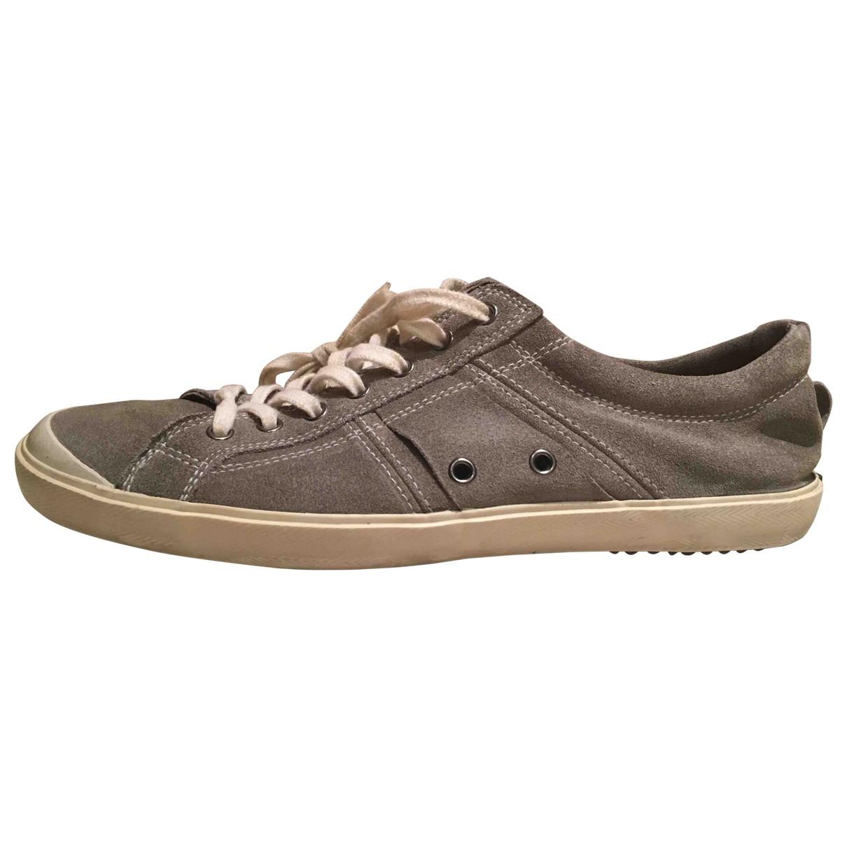 N.d.c. Made By Hand \N Sneakers in  Grau Leder