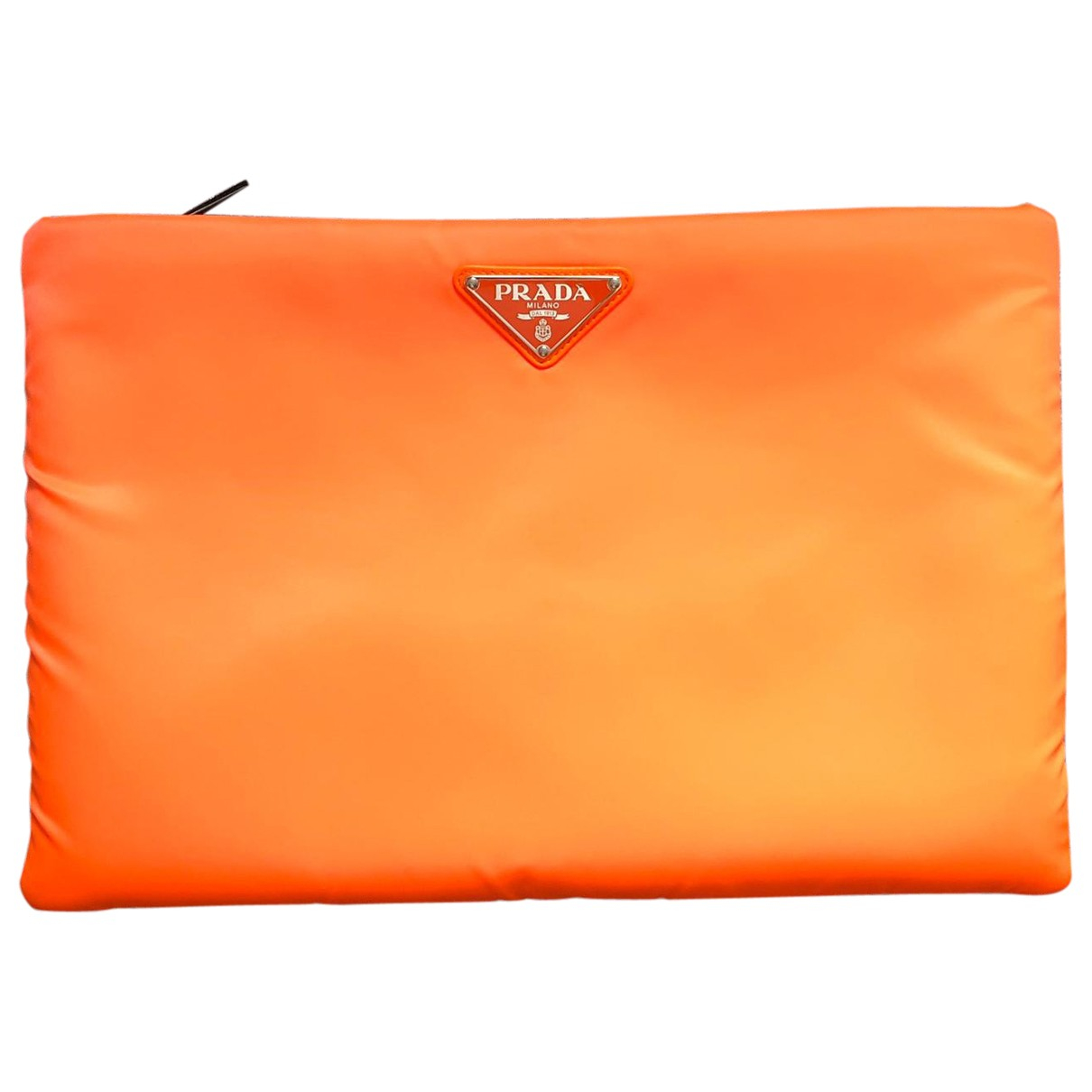 Prada \N Clutch in  Orange Polyester