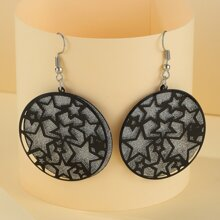 Hollow Out Star Drop Earrings