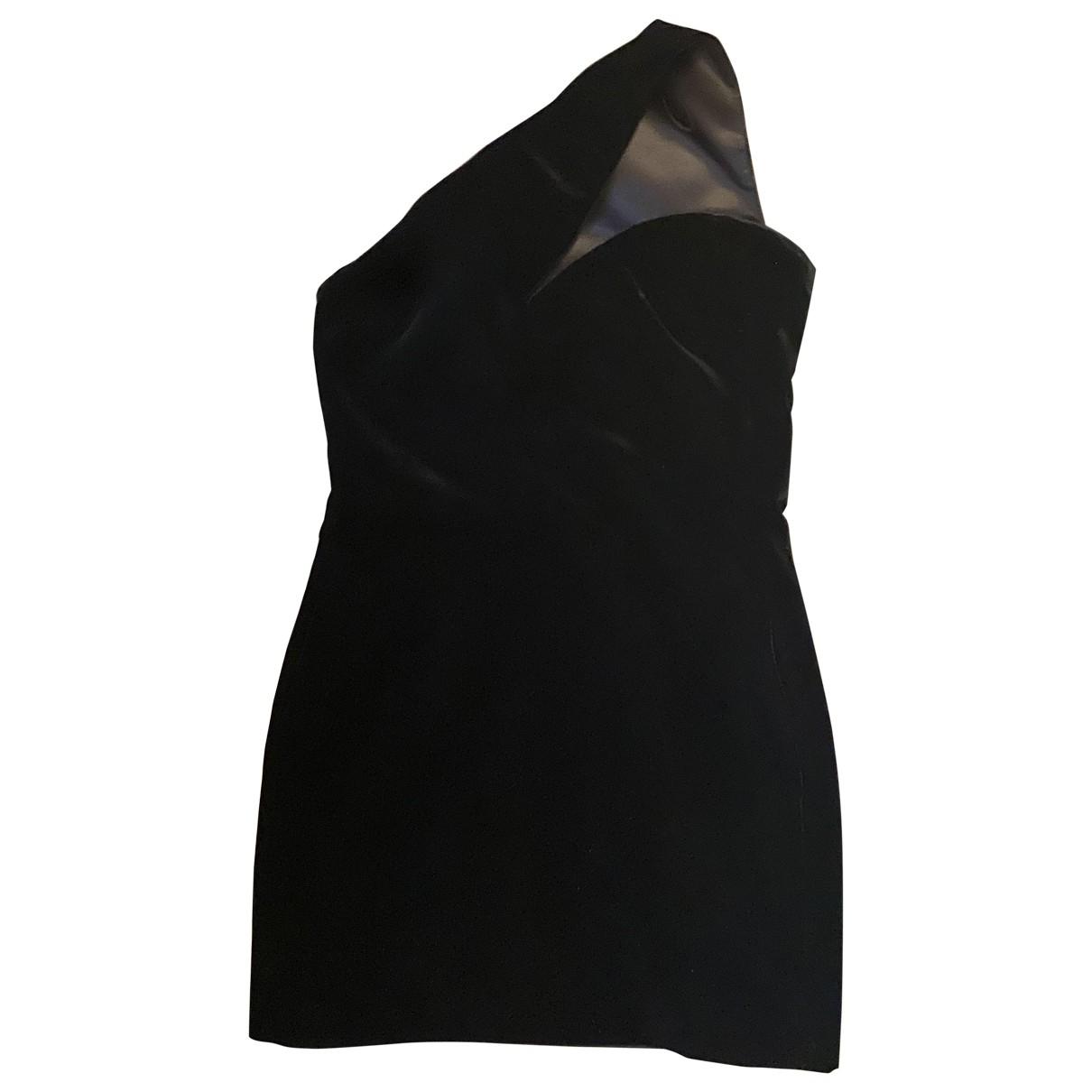 Saint Laurent \N Kleid in  Schwarz Samt