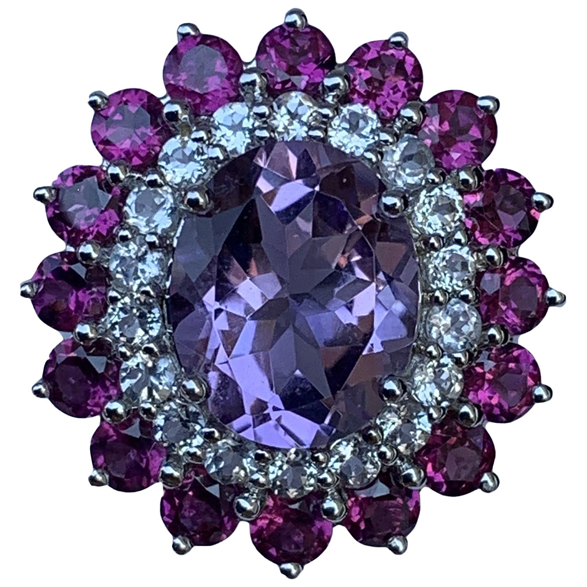 - Bague Amethyste pour femme en argent - violet