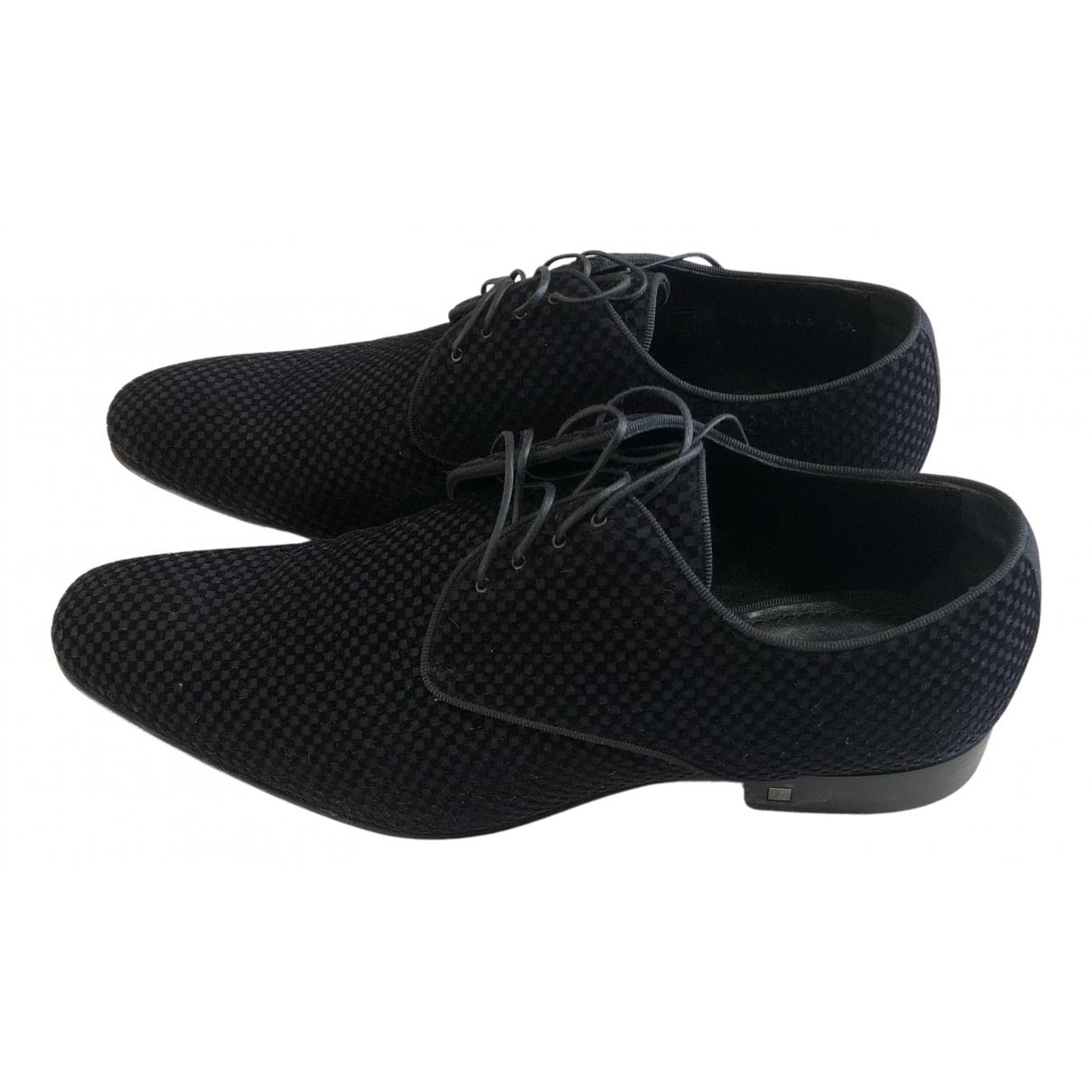 Louis Vuitton - Derbies   pour homme en velours - noir