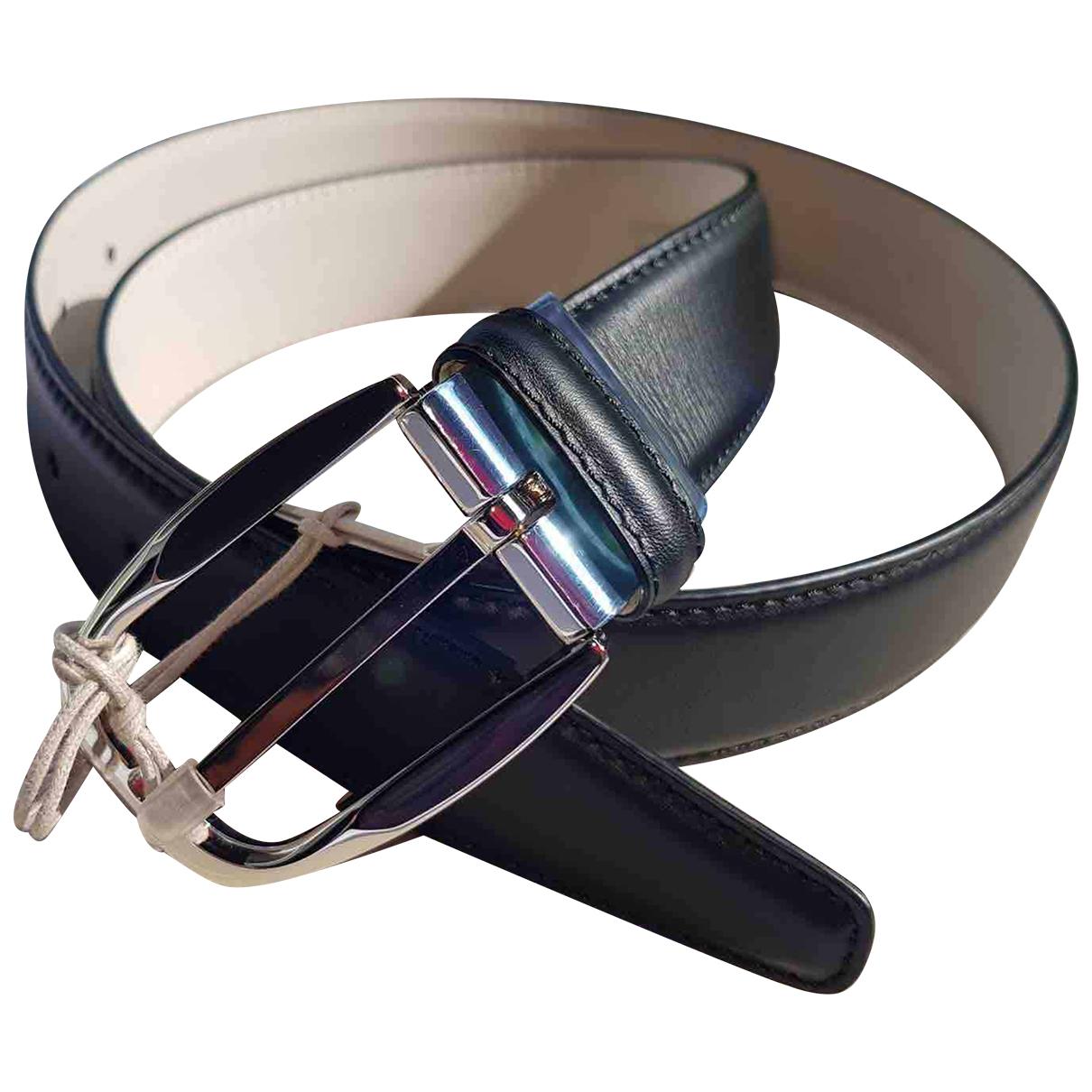 Brioni \N Black Leather belt for Men 85 cm