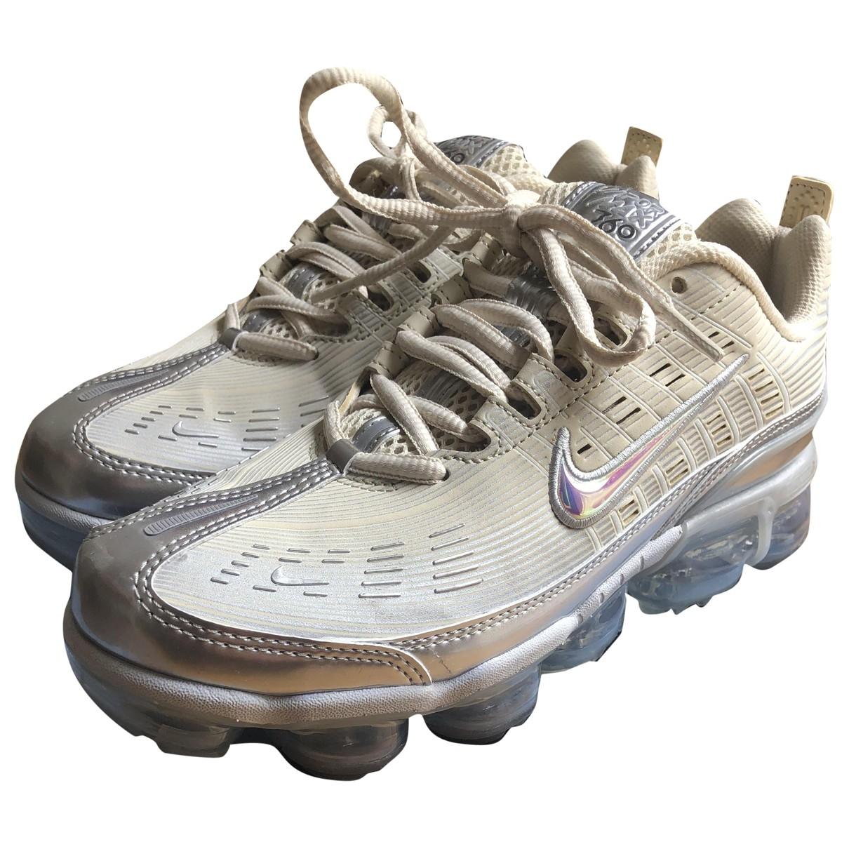 Nike Air VaporMax Sneakers in  Beige Leinen