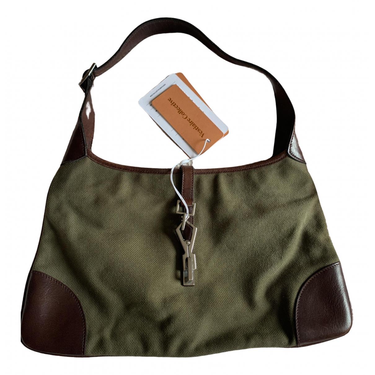 Gucci Jackie Vintage  Khaki Cloth handbag for Women \N