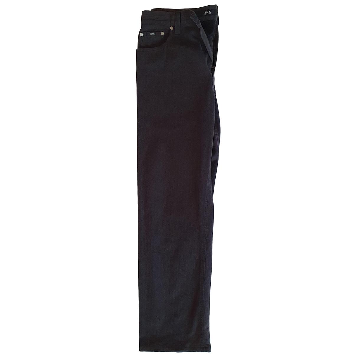 Boss \N Black Cotton Trousers for Men 36 UK - US