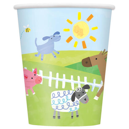 Farm Party 9oz Paper Cups, 8ct For Birthday Party