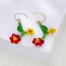 Ohrringe mit Blumen Anhaenger