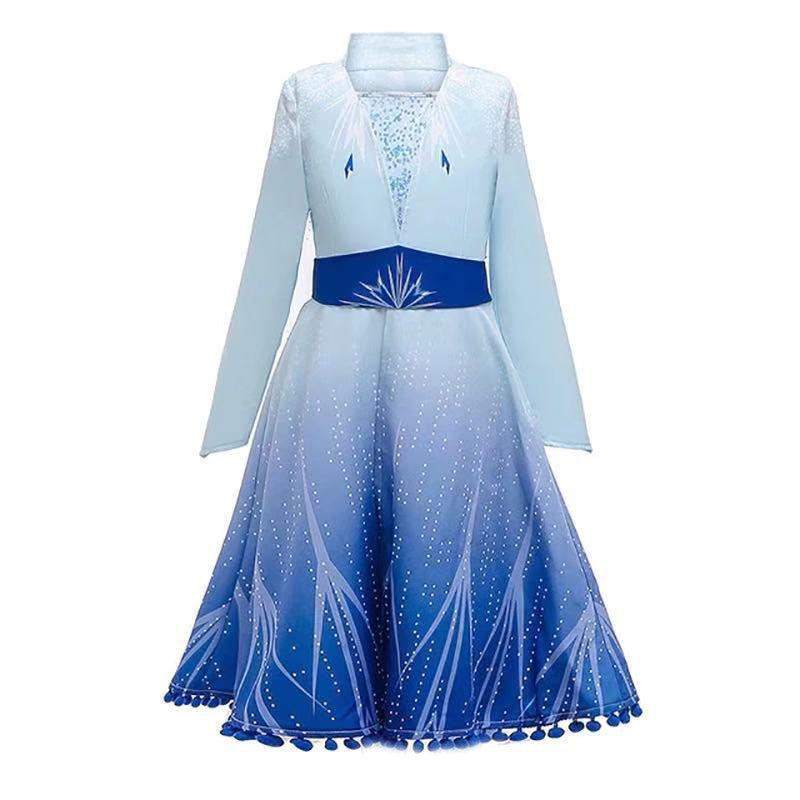 Girl's V-neck Snowflake Print Patchwork Wedding Princess Formal Coat For 4-15Y