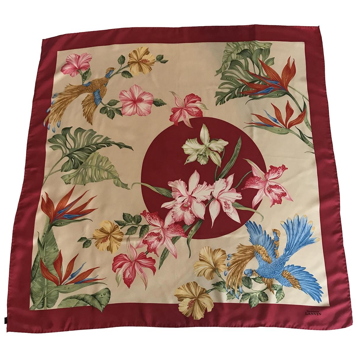 Lanvin - Carre   pour femme en soie - multicolore