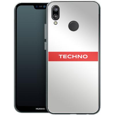 Huawei P20 Lite Silikon Handyhuelle - RED LINE von Berlin Techno Collective