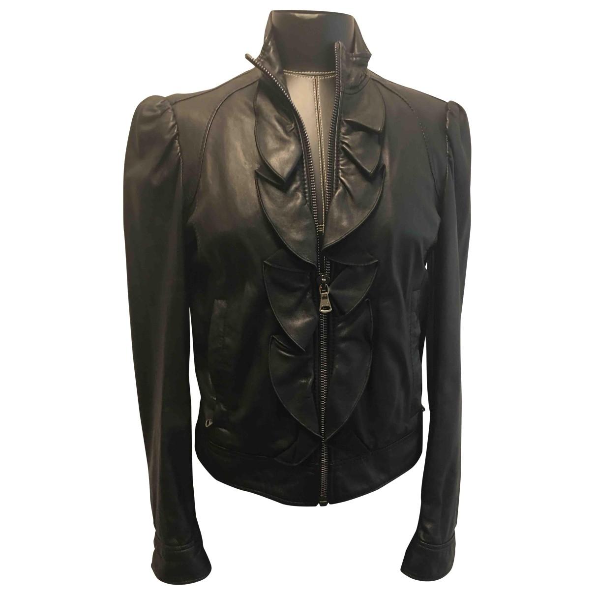 D&g \N Black Leather Leather jacket for Women 44 FR
