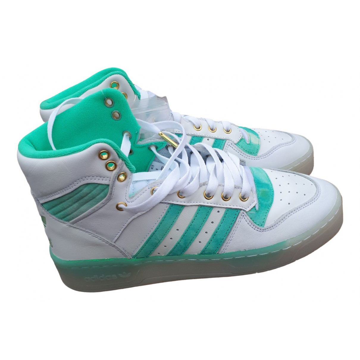 Adidas \N White Leather Trainers for Men 8 UK
