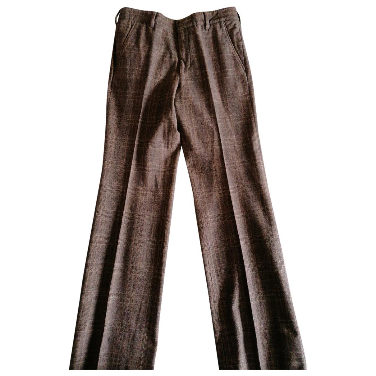 Fendi \N Brown Cashmere Trousers for Men M International