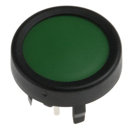 Schurter Single Pole Single Throw (SPST) Green Membrane Keyboard Switch, 125 mA @ 48 V dc