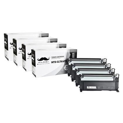 Compatible Samsung CLT-K407S Black Toner Cartridge - Moustache - 4/Pack