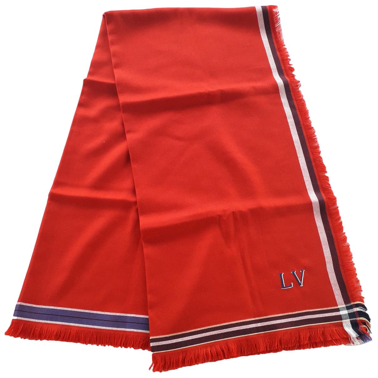 Louis Vuitton \N Red Wool scarf & pocket squares for Men \N