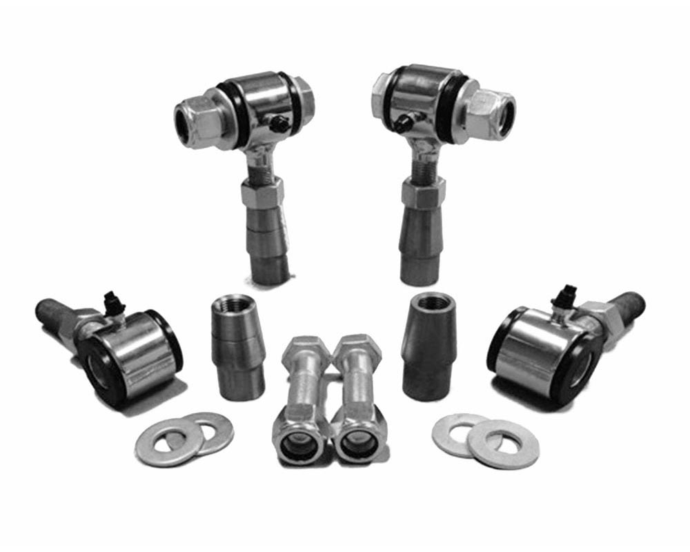 Steinjager J0006740 3/4-16 RH LH Poly Bushings Kits, Male 3/8 Bore x 1.50 Wide fits 1.500 x 0.120 Tubing Chrome Plated Bush Housing Four Poly Ends Per
