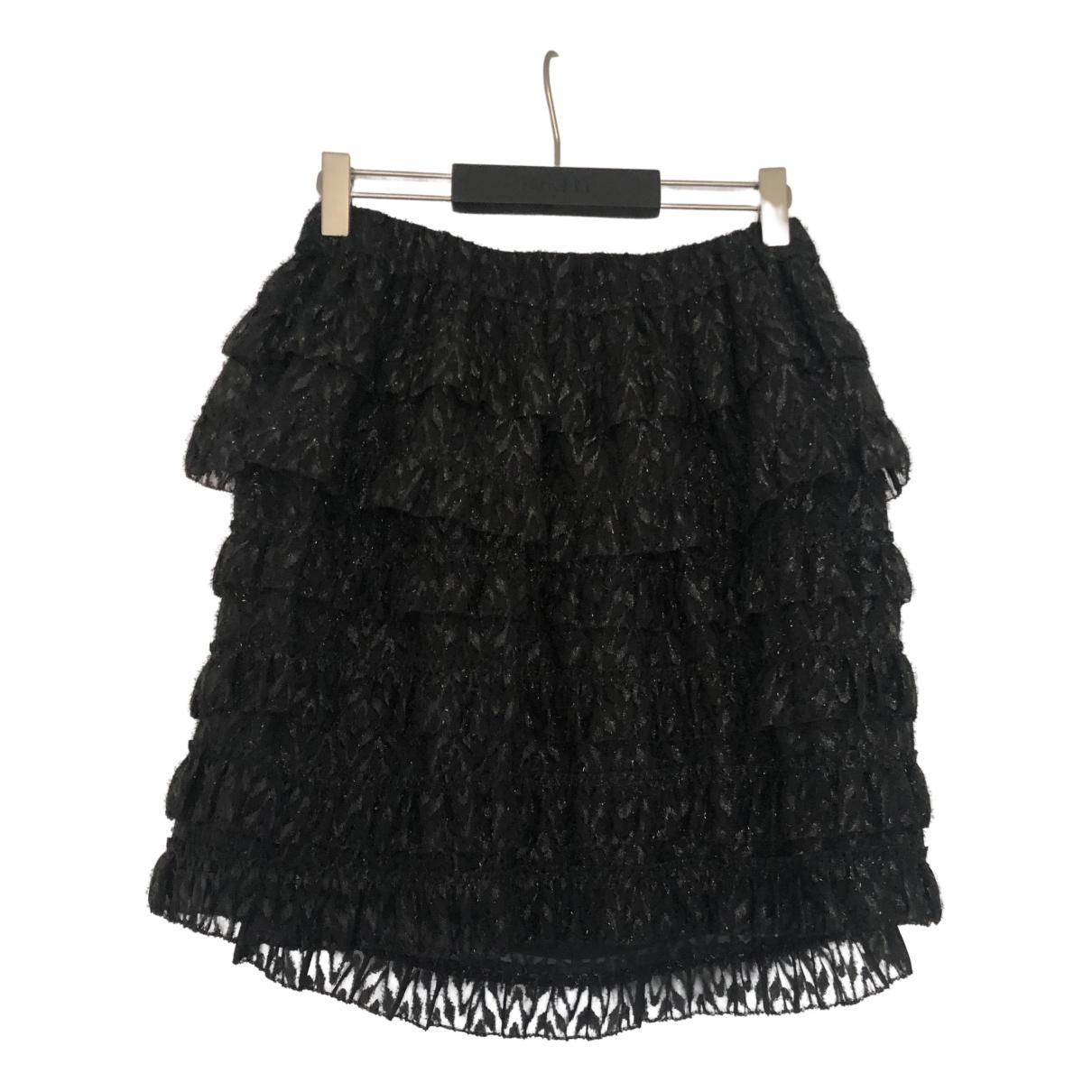 Isabel Marant - Jupe   pour femme en soie - noir