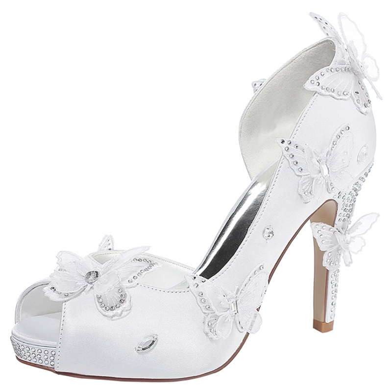 Ericdress 3D Butterfly Rhinestone Wedding Shoes