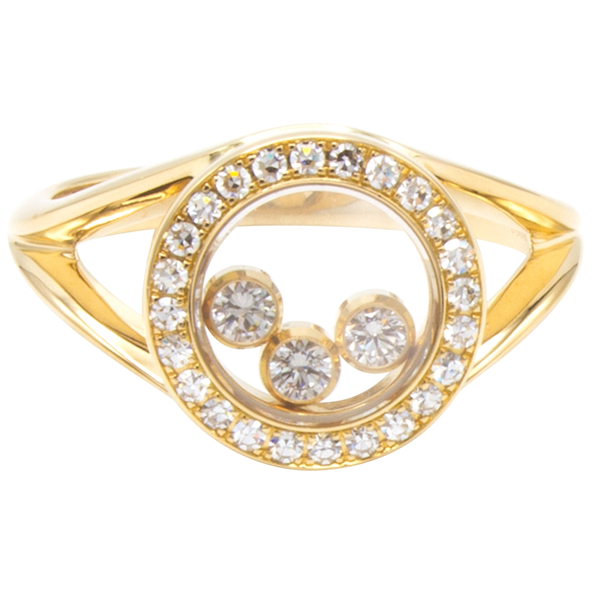 Chopard Happy Diamonds Gold Yellow gold ring for Women 51 MM