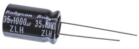 Rubycon 1000μF Electrolytic Capacitor 35V dc, Through Hole - 35ZLH1000MEFC12.5X20 (5)