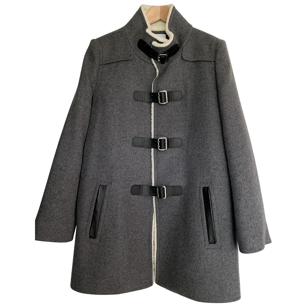 Claudie Pierlot - Manteau   pour femme en laine - gris