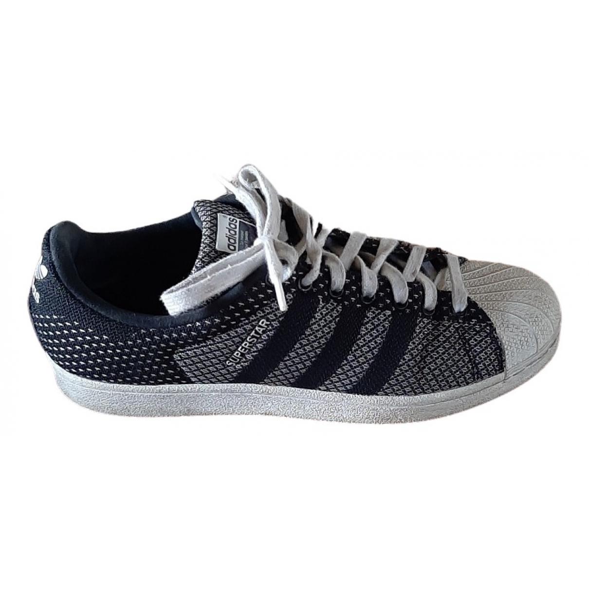 Adidas Superstar Sneakers in  Schwarz Leinen