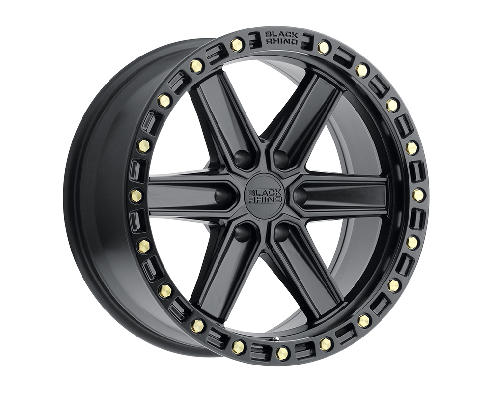 Black Rhino Henderson Wheel 17x9  6x135 0mm Matte Black w/Brass Bolts
