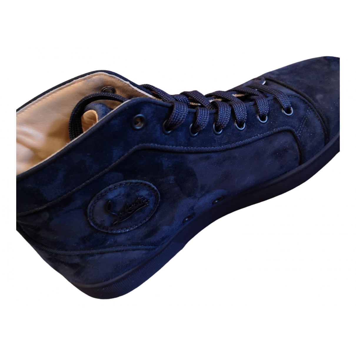 Christian Louboutin Louis Navy Suede Trainers for Men 9.5 UK
