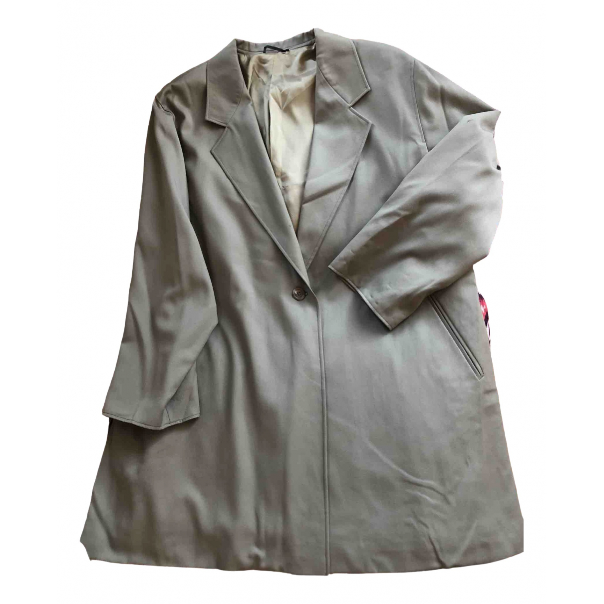 Non Signé / Unsigned Oversize Green Wool jacket for Women XL International