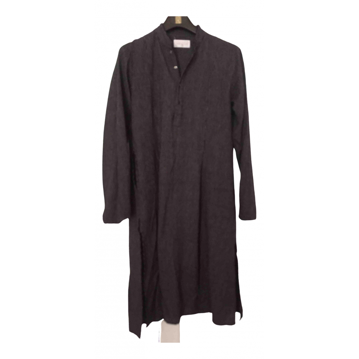 Khadi And Co - Robe   pour femme en lin - anthracite