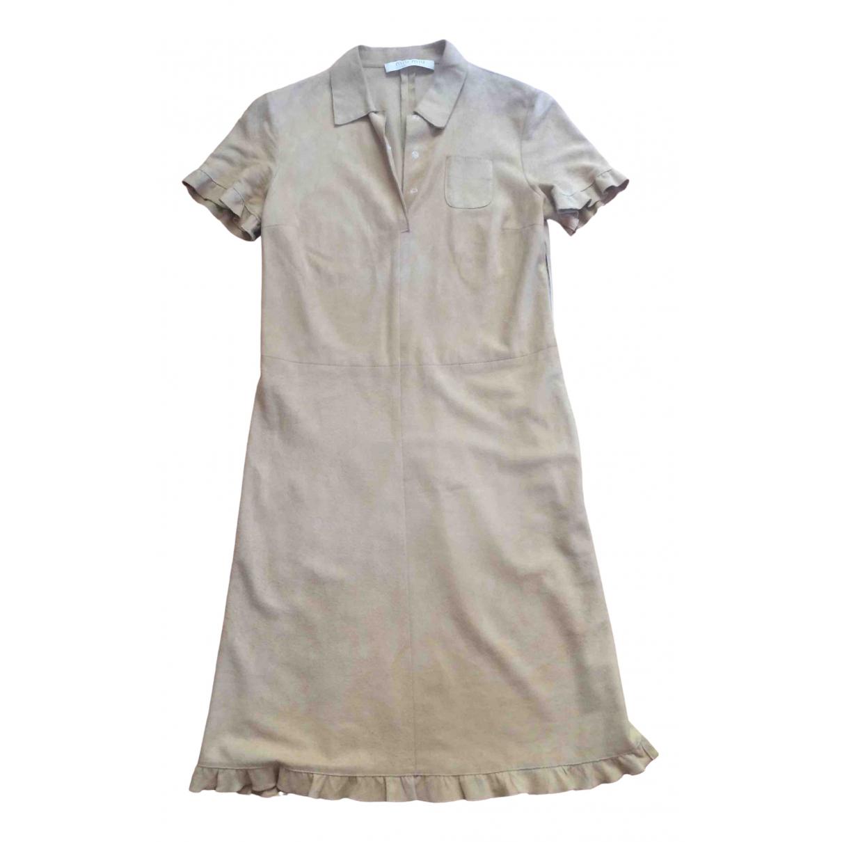 Miu Miu \N Kleid in  Beige Veloursleder