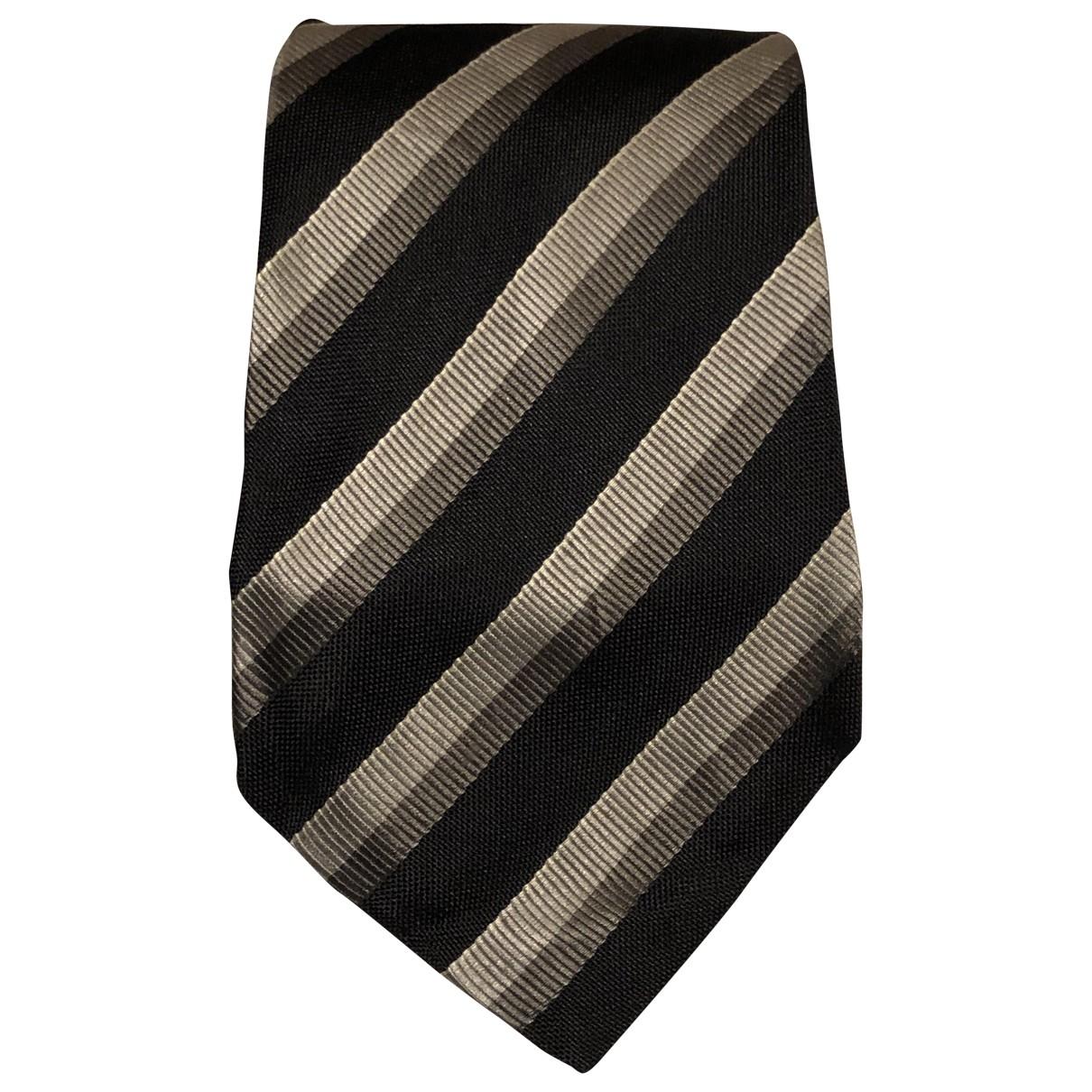 Emporio Armani - Cravates   pour homme en soie - gris